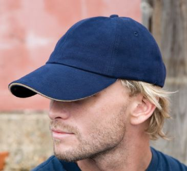 RC025P Result Pro-Style Heavy Brushed Cotton Cap with Sandwich Peak